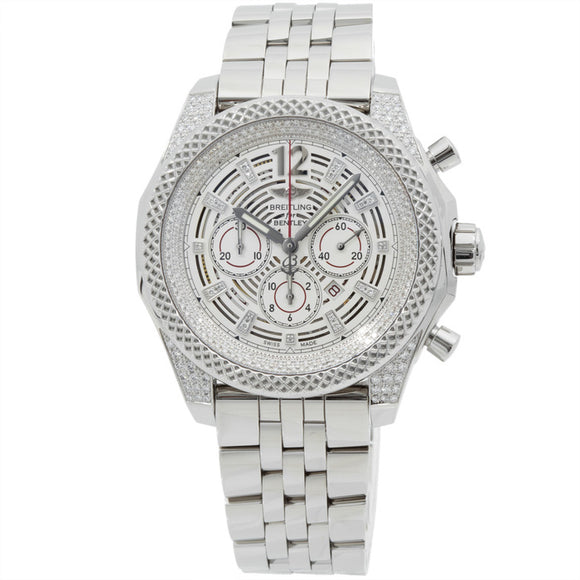 Breitling Bentley Barnato Stainless Steel Silver Dial - The Luxury Well