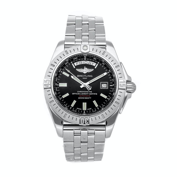 Breitling Galactic 44 Day & Date Automatic Black 44mm Dial - The Luxury Well