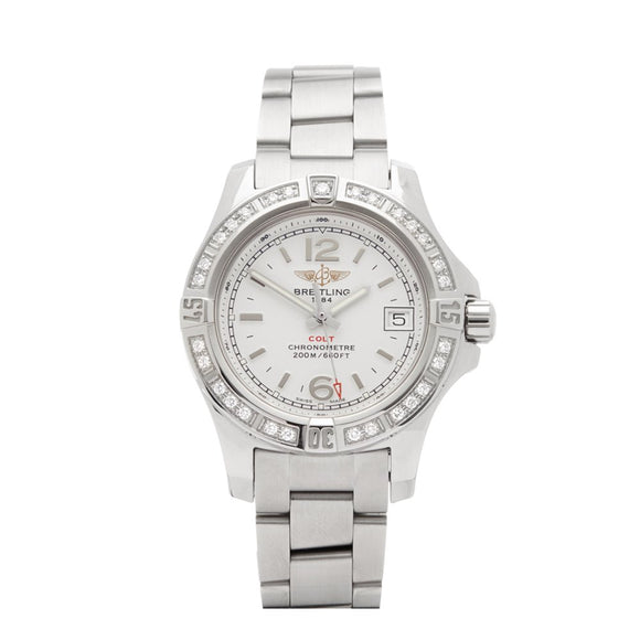 Breitling Colt Lady Stratus Silver Dial Professional III Steel - The Luxury Well