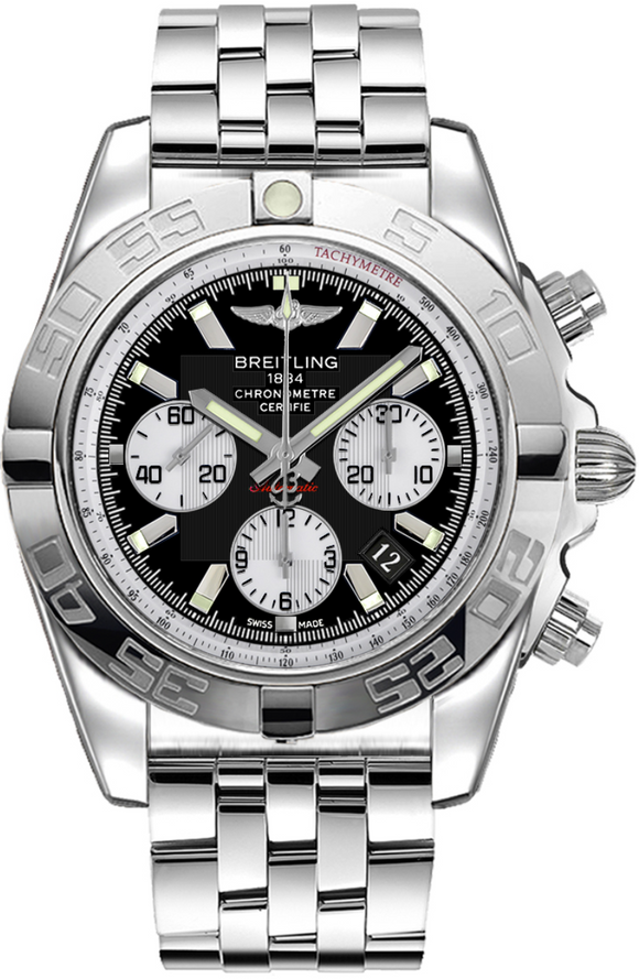Breitling Chronomat 44 Stainless Steel Black - The Luxury Well