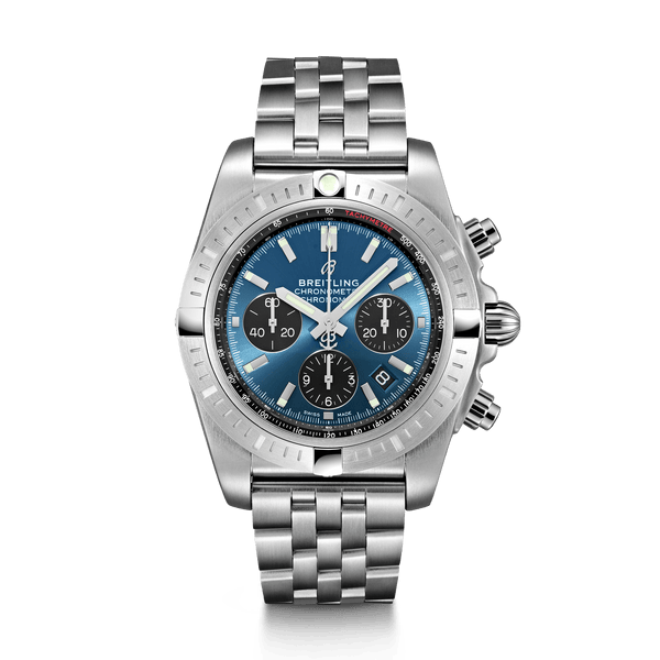Breitling Chronomat B01 Chronograph Steel 44mm Blue Index Dial (NEW) - The Luxury Well