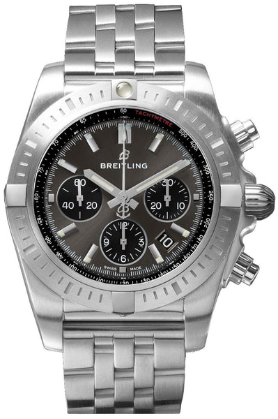 Breitling Chronomat B01 Chronograph Steel-Blackeye Gray 44mm - The Luxury Well