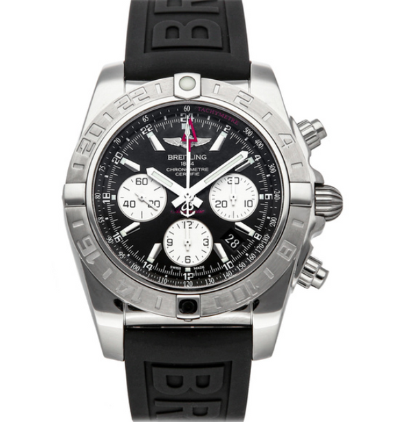 Breitling Chronomat 44 GMT Stainless Steel Black Dial with Black Diver Pro 3