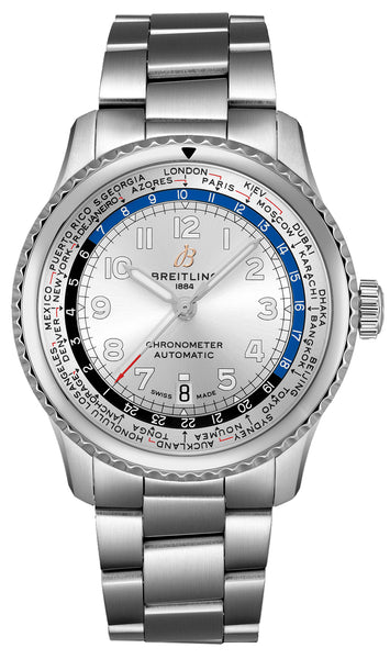 Breitling Navitimer 8 Unitime Automatic 43 Stainless Steel - The Luxury Well