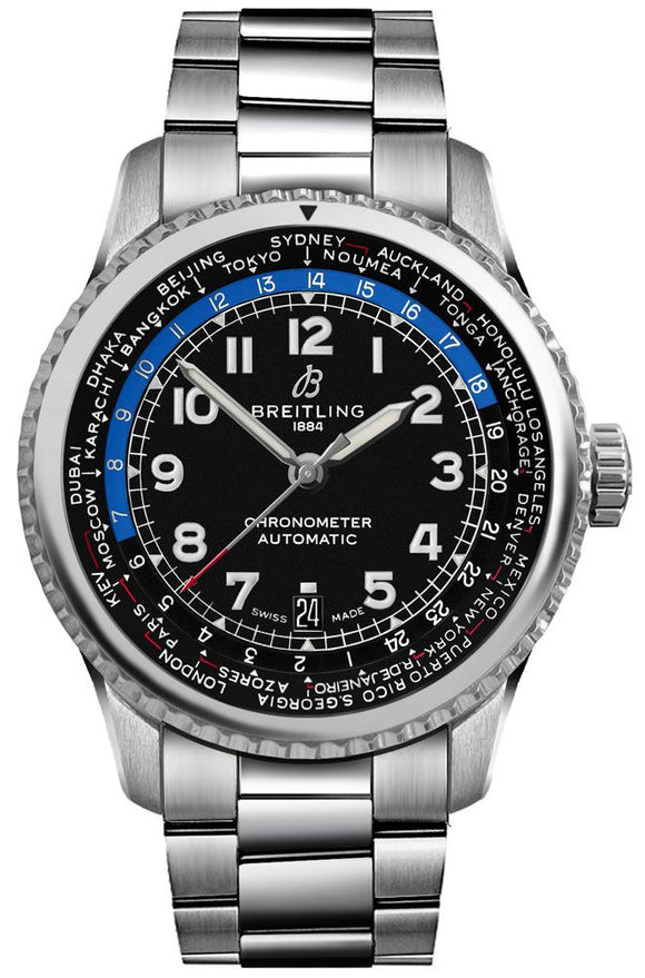 Breitling Navitimer 8 Unitime Automatic Stainless Steel - The Luxury Well