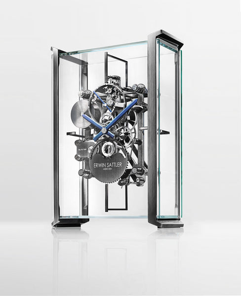 Erwin Sattler Limited Edition Skeleton Table Clock by Audi Design - The Luxury Well