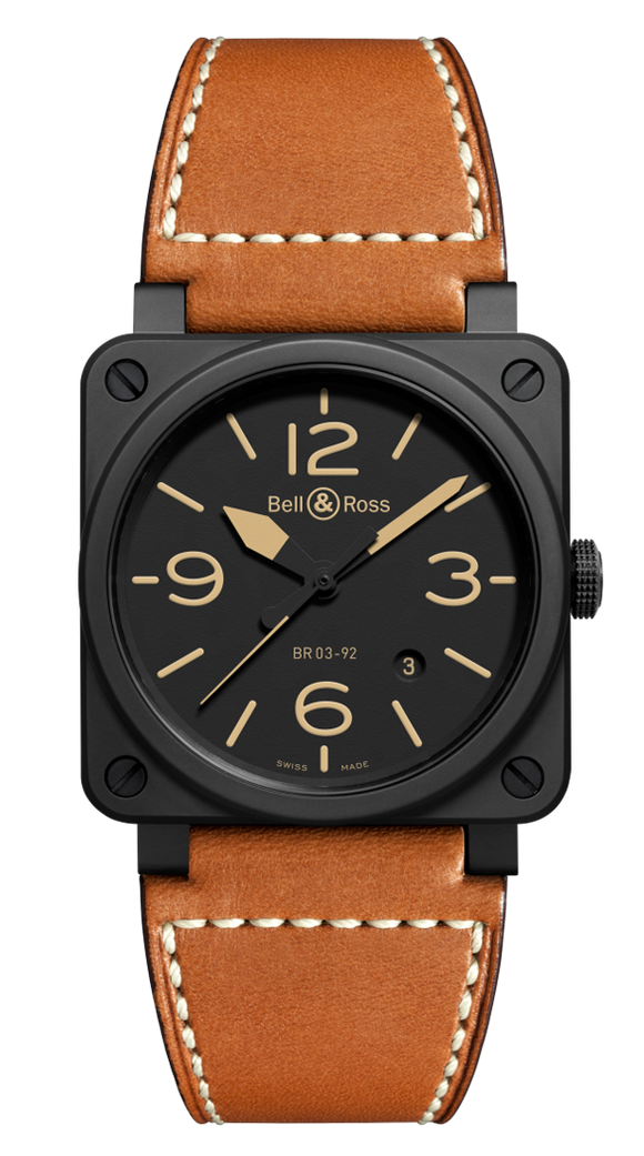 Bell & Ross BR 03-92 Heritage Matte Black Ceramic Case - The Luxury Well