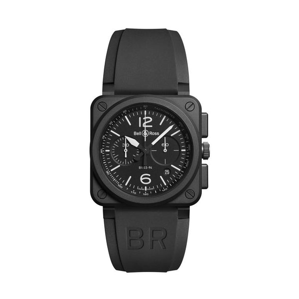 Bell & Ross BR 03-94 Chronograph Black Matte - The Luxury Well