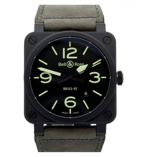 Bell & Ross BR 03-92 Ceramic Nightlum Black 42mm Dial - The Luxury Well