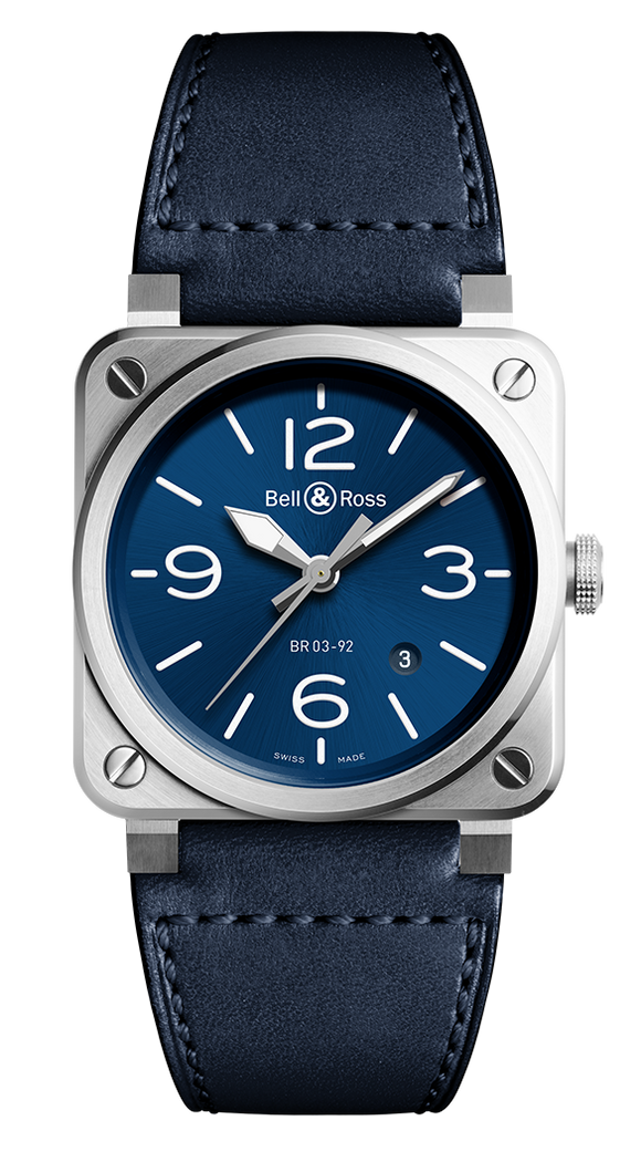 Bell & Ross BR03-92 Automatic Blue Steel - The Luxury Well