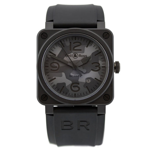 Bell & Ross BR 03 Black Camo Dial 42mm - The Luxury Well