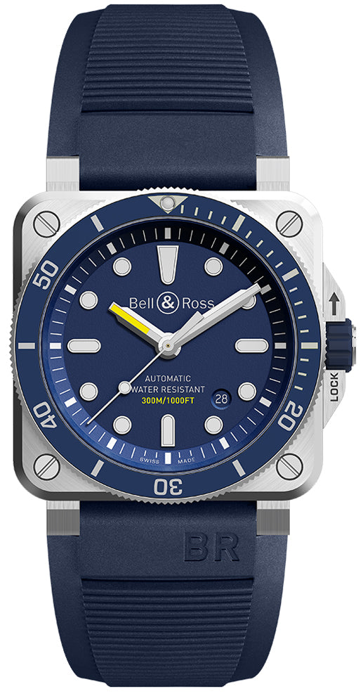 Bell & Ross BR03-92 Diver Automatic Blue - The Luxury Well