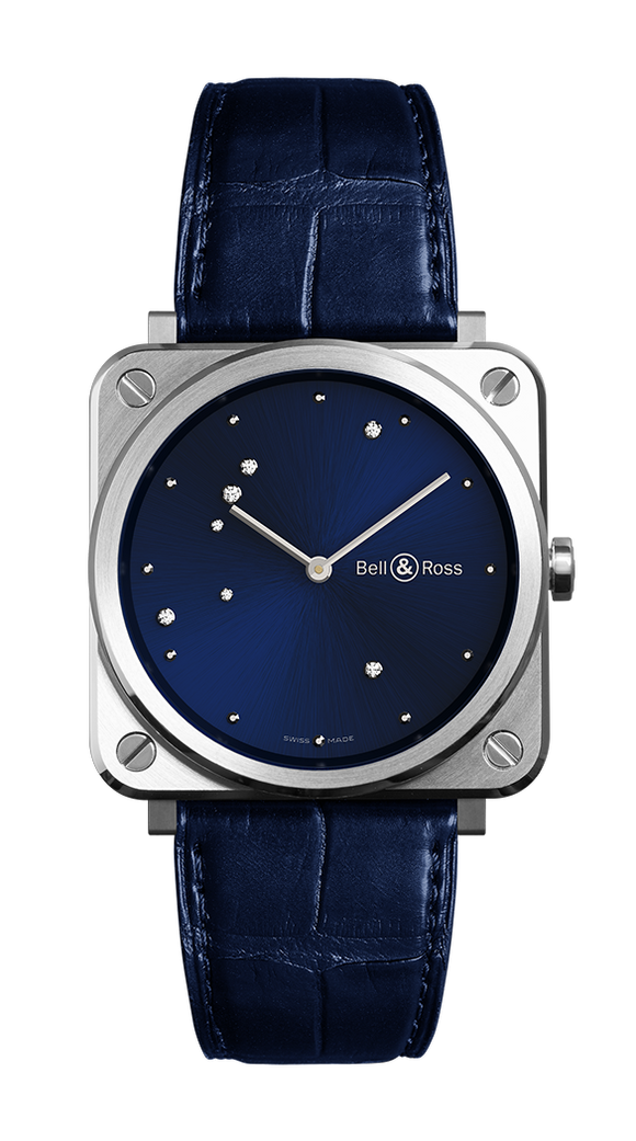 Bell & Ross Blue Diamond Eagle Midnight Blue Dial Quartz - The Luxury Well