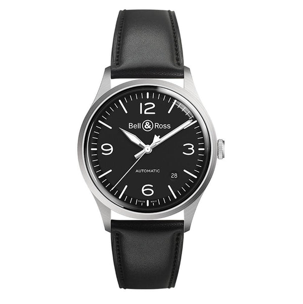 Bell & Ross BRV192 Vintage Automatic Satin Polished Steel Case - The Luxury Well
