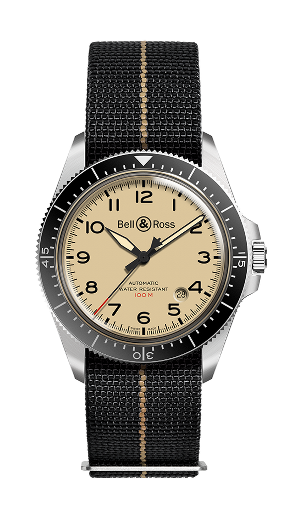 Bell & Ross BR V2-92 MILITARY BEIGE - The Luxury Well