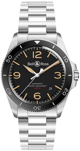 Bell & Ross BR V2 Heritage Steel Black 41mm Dial - The Luxury Well