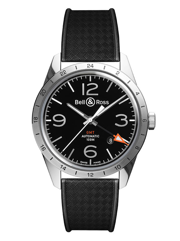 Bell & Ross BR V2 Vintage Steel Black 41mm - The Luxury Well