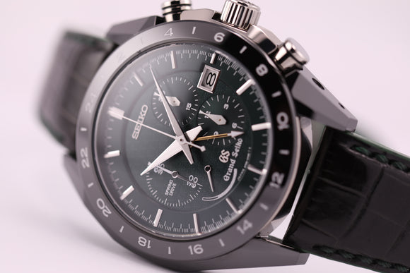 Grand Seiko Spring Drive Ceramic Chrono GMT Onbashira L.E. - The Luxury Well