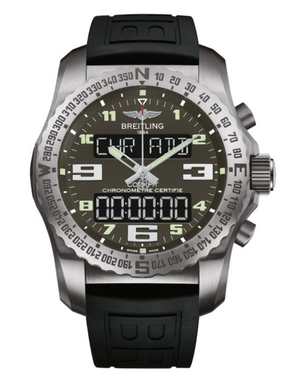 Breitling Cockpit B50 Titanium / Grey / Rubber 46mm