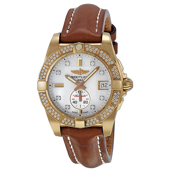 Breitling Galactic 36 Stainless Steel Mother-of-Pearl 36mm - The Luxury Well