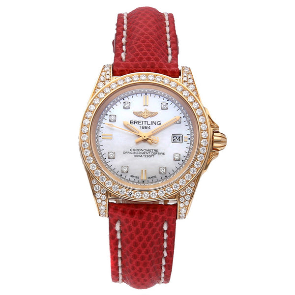 Breitling Galactic Sleek Edition Limited Edition MOP Diamond Dial - The Luxury Well