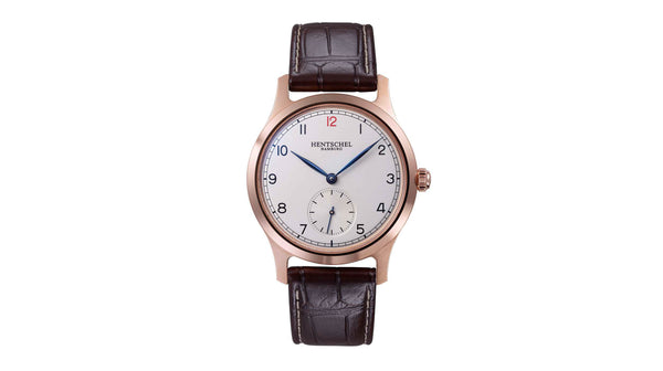 "Hentschel Hamburg H2 Chronometer 18kt Gold ""Ambassador"" - The Luxury Well"