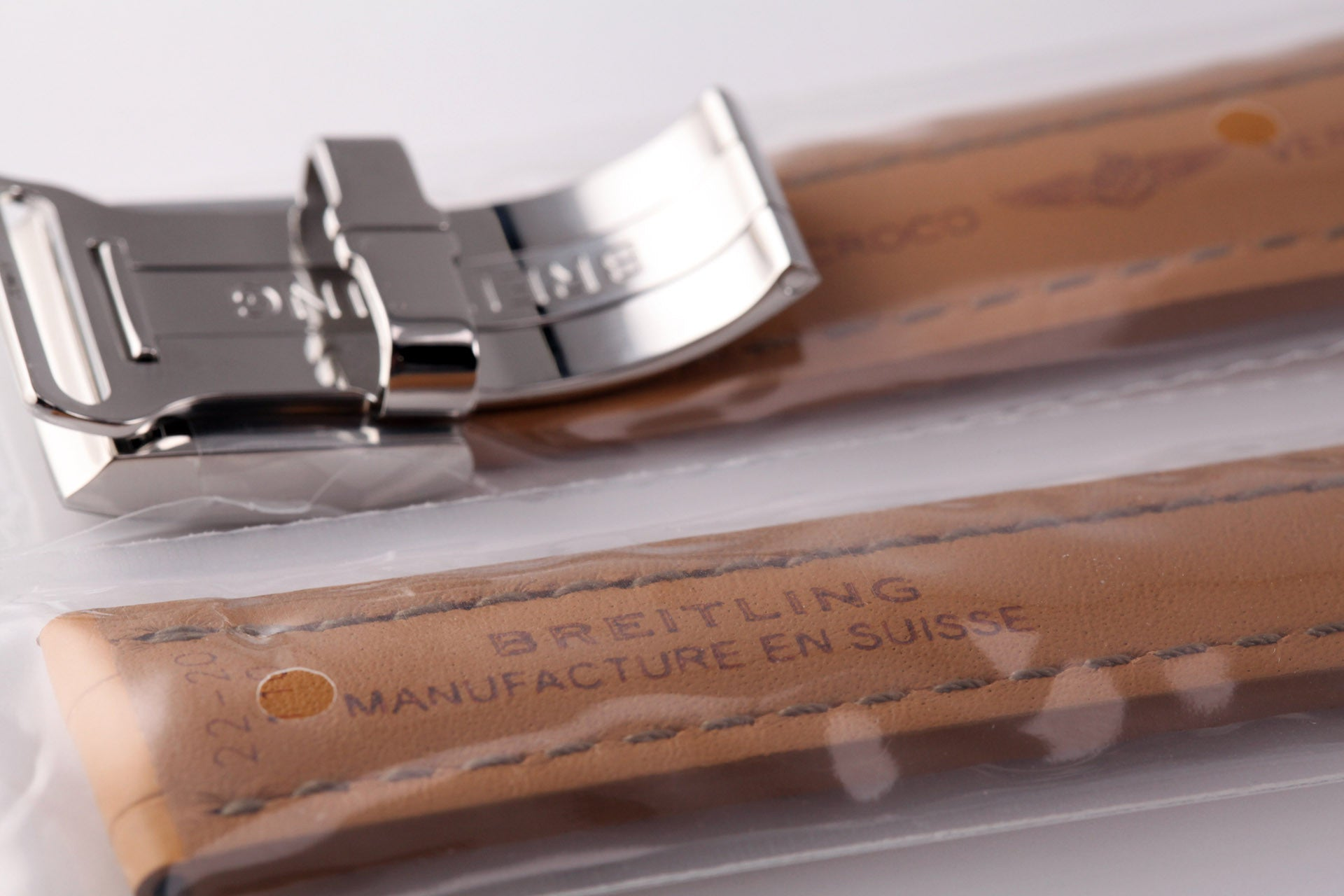 Breitling Genuine Crocodile Strap and Folding Buckle