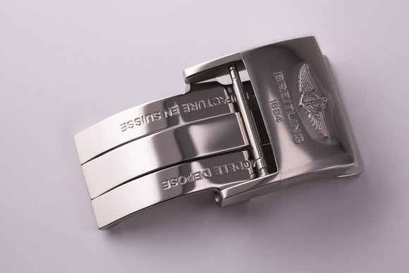 Breitling Stainless Steel Folding Buckle 20mm - The Luxury Well