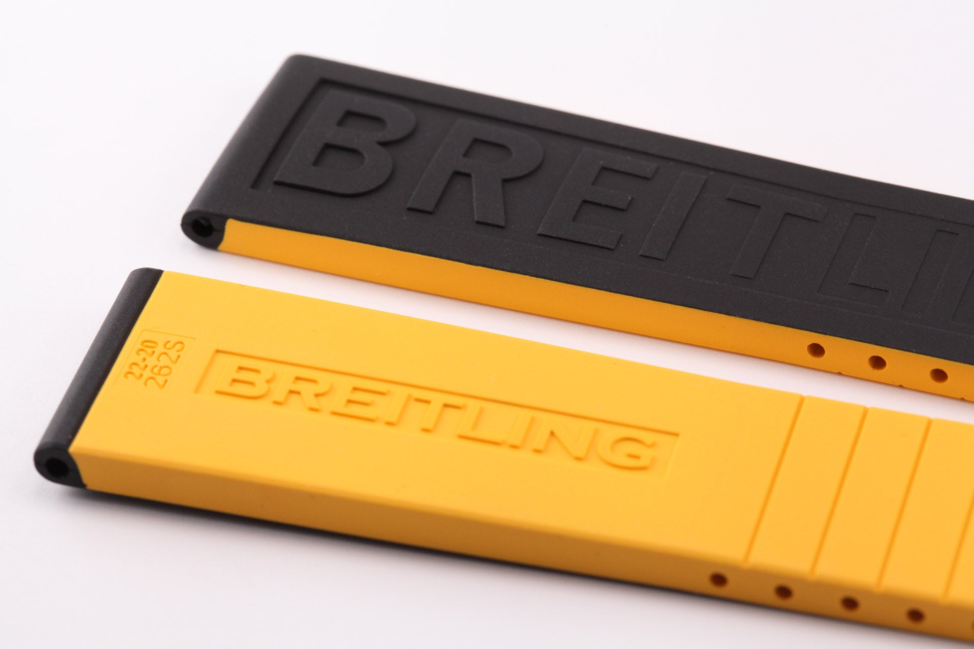Breitling Limited Edition TwinPro Black/Yellow Rubber Strap 22-20