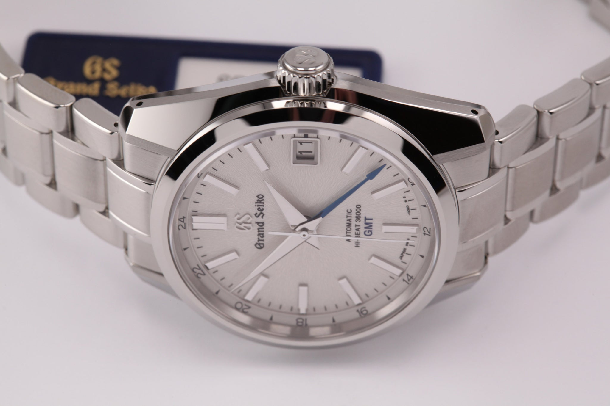 "Grand Seiko Automatic Hi Beat GMT Silver ""Mt. Iwate"" Dial (2019)"