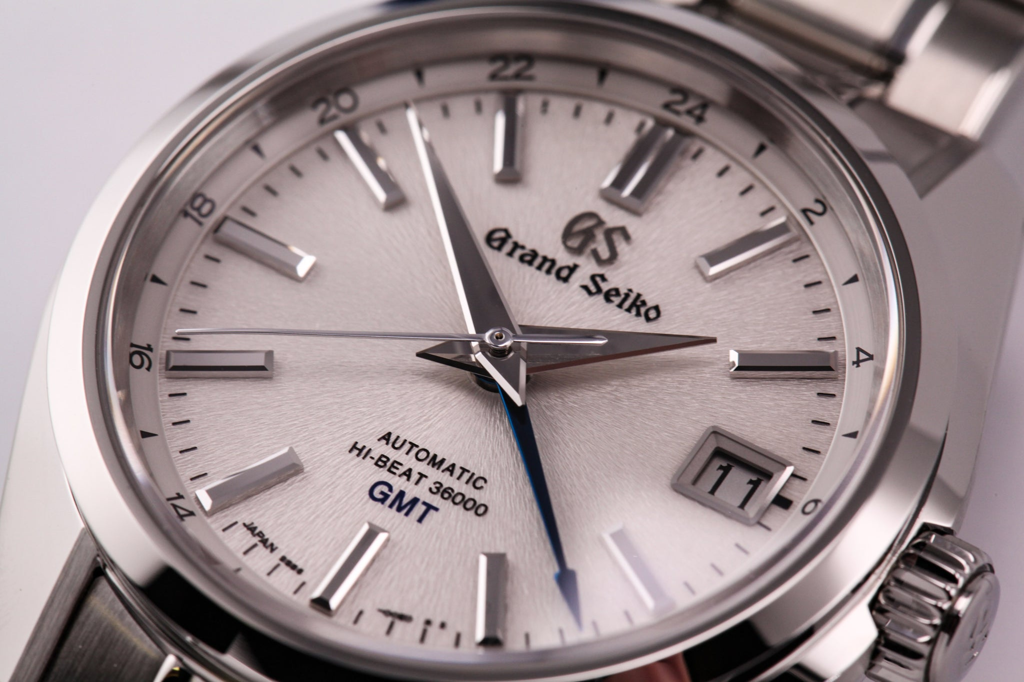"Grand Seiko Automatic Hi Beat GMT Silver ""Mt. Iwate"" Dial"