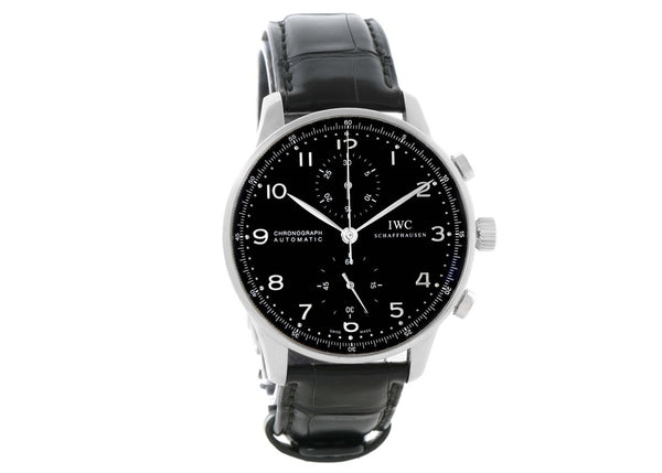 IWC Chronograph Portuguese Automatic Black Dial