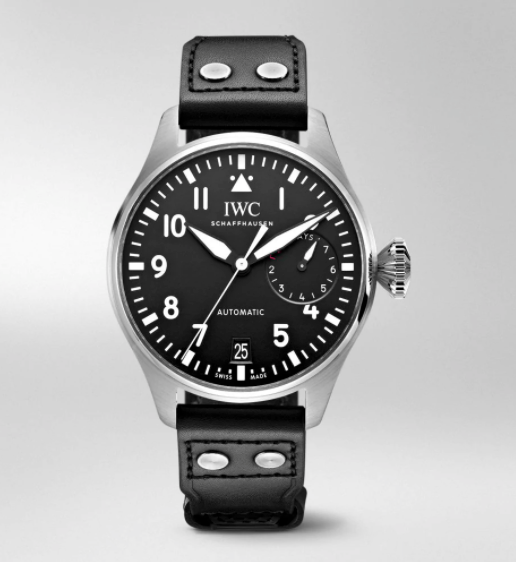 IWC Big Pilot Automatic Black Dial Black Leather