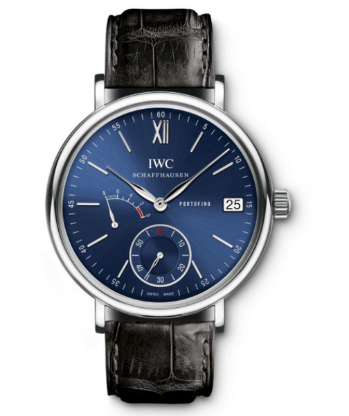 IWC Portofino Blue Dial Black Leather