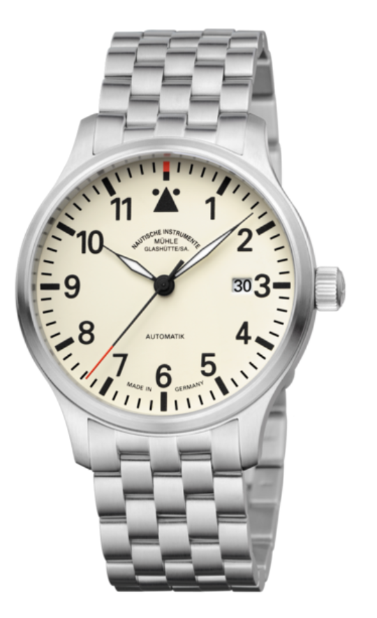 Mühle Glashütte Terrasport II Cream Dial Stainless Steel 40mm - The Luxury Well