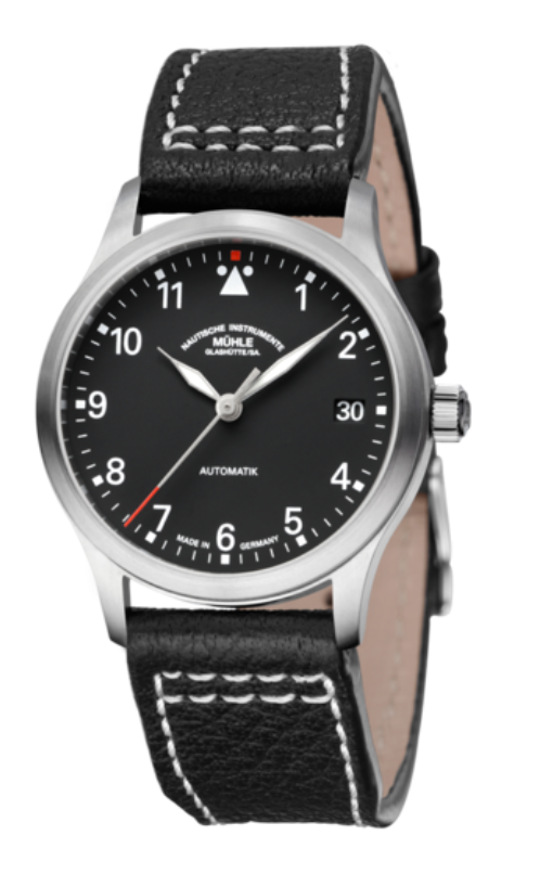 Mühle Glashütte Terrasport III Black Stainless Steel 34mm Dial - The Luxury Well