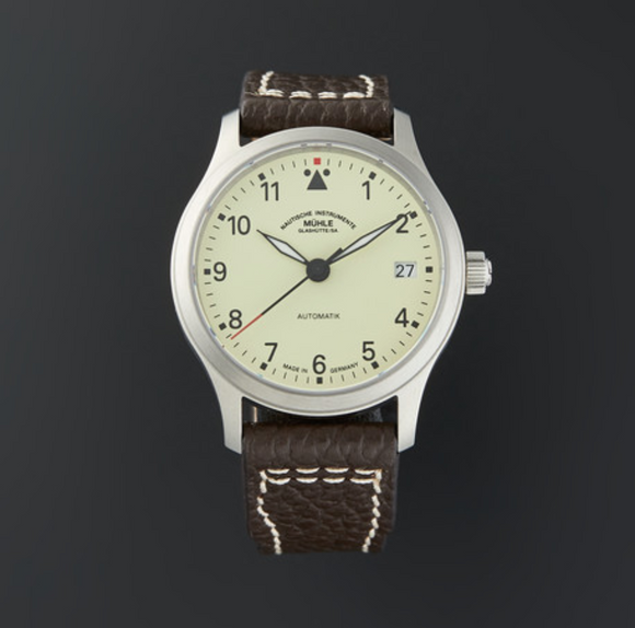 Mühle Glashütte Terrasport III Stainless Steel Cream 34mm Dial - The Luxury Well