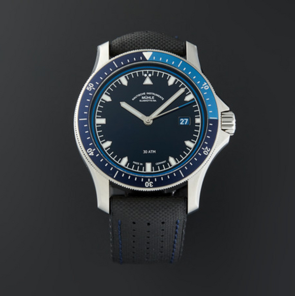 Mühle Glashütte ProMare Go Blue 42mm Dial - The Luxury Well