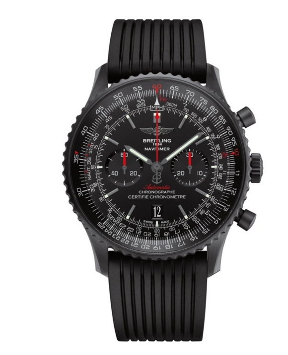 Breitling Navitimer 01 Black Steel Black Dial - The Luxury Well
