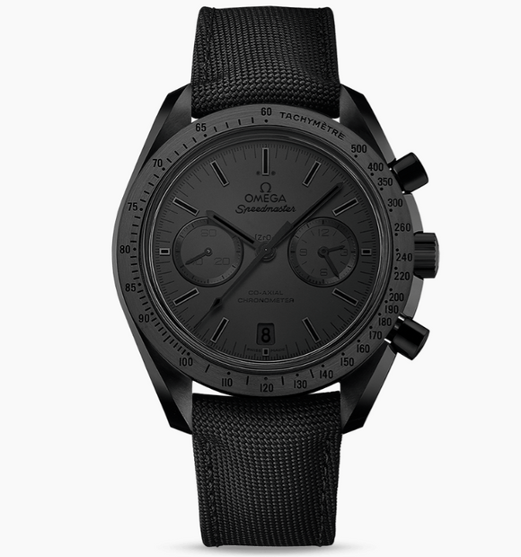 Omega Speedmaster Dark Side of the Moon - Co-Axial Chronometer Chronograph 44.25mm (Black ceramic on coated nylon fabric strap)