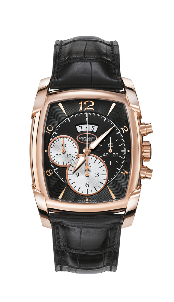 Parmigiani Fleurier Kalpagraphe Rose Gold 44.5 x 39.2 mm black dial - The Luxury Well