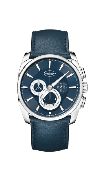 Parmigiani Fleurier Tonda Metrographe 40mm blue super-luminova dial - The Luxury Well