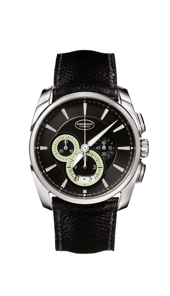 Parmigiani Fleurier Tonda Metrographe 40mm black dial - The Luxury Well