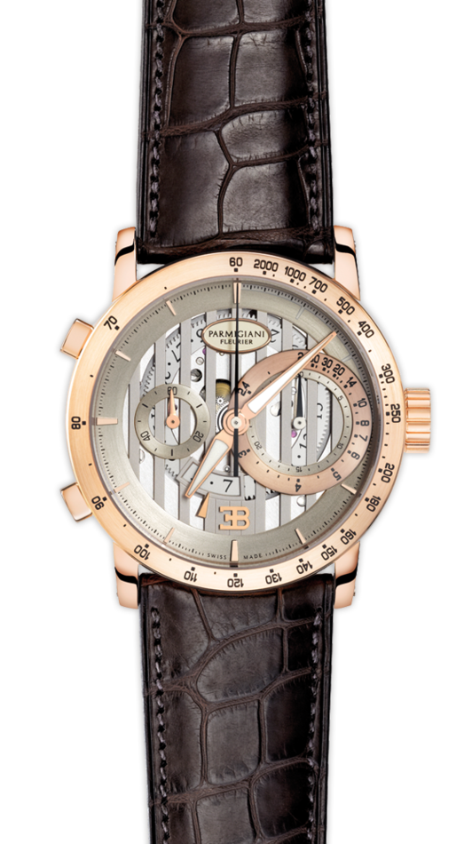 Parmigiani Fleurier Bugatti Atalante Flyback Chronograph 43mm silver dial - The Luxury Well
