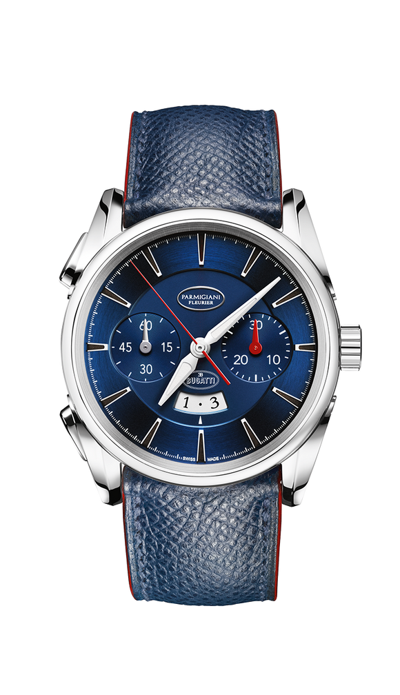 Parmigiani Fleurier Bugatti Aerolithe 41mm blue dial - The Luxury Well
