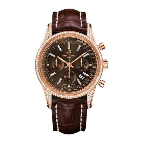 Breitling Transocean Chronograph 18k Rose Gold - The Luxury Well