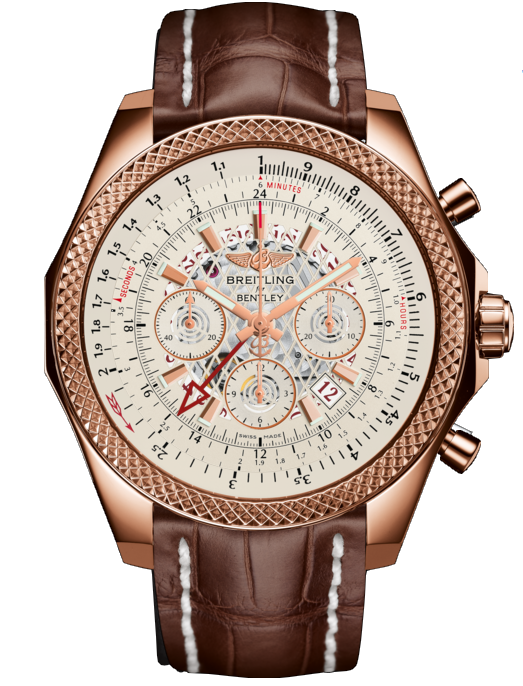 Breitling Bentley B04 GMT 18kt Red Gold Silver Dial - The Luxury Well