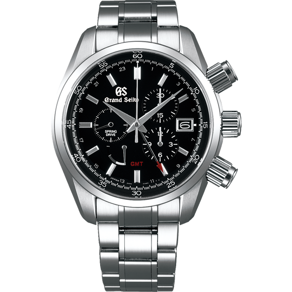 Grand Seiko Spring Drive Chronograph GMT Black Dial (New Model) - The Luxury Well