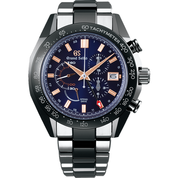 Grand Seiko Ltd Edition Ceramic Spring Drive Chronograph GMT XXX/500 - The Luxury Well