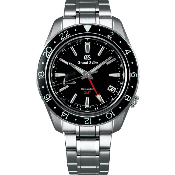 Grand Seiko Spring Drive GMT Black Dial (SBGE201) - The Luxury Well